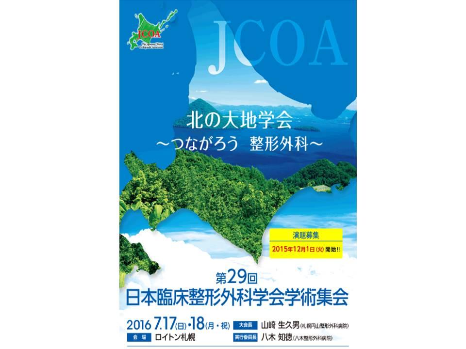 第29回日本臨床整形外科学会学術集会