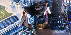 展望施設「SHIBUYA SKY」でトリック写真を!