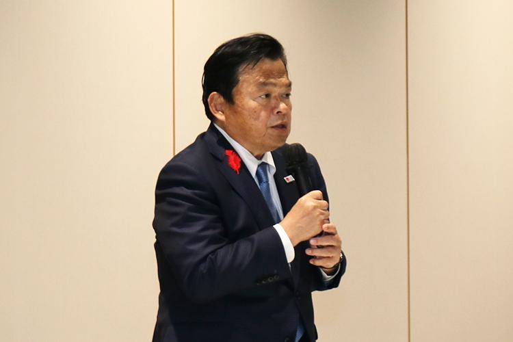 赤羽国土交通大臣が羽田イノベーションシティを視察されました
