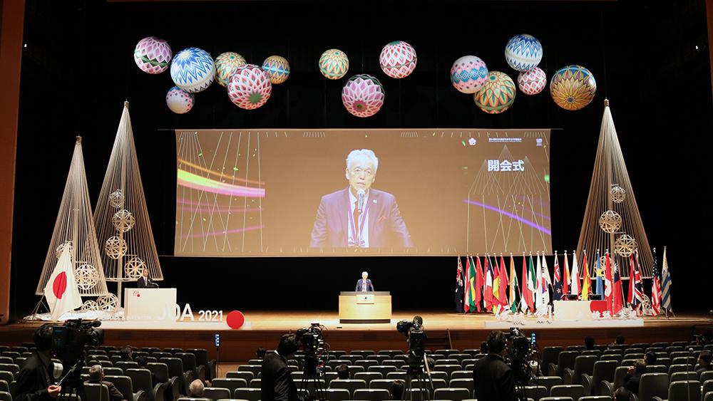 東京国際フォーラムのホールAで開会式を収録