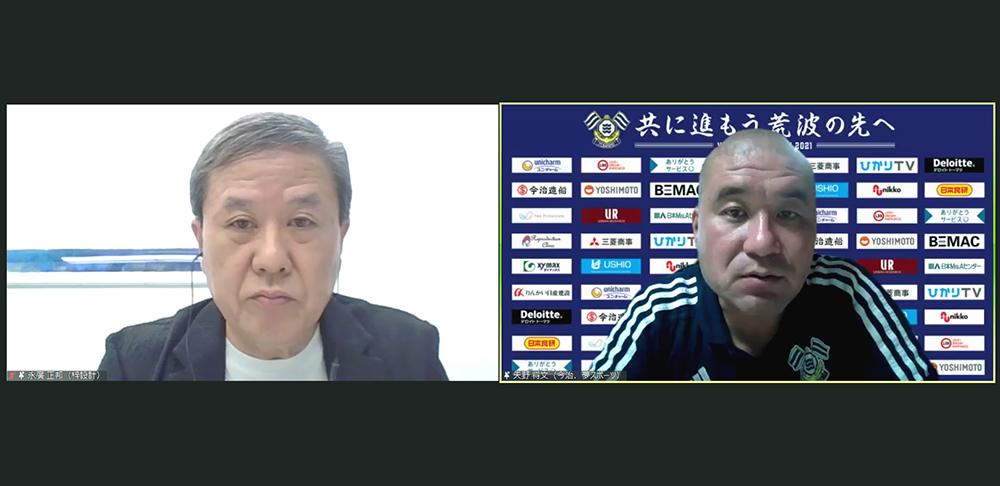 (左)梓設計 永廣 正邦氏 (右)今治.夢スポーツ 矢野 将文氏